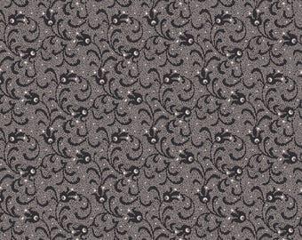 "22"" of Villageware Toile Black Tonal Swirl by Renee Nanneman for Andover"