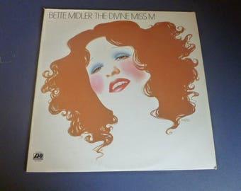 Bette Midler The Divine Miss M Vinyl Record LP SD 7238 Atlantic Records 1972