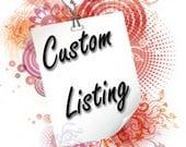 Custom Listing for Noel Goodwin