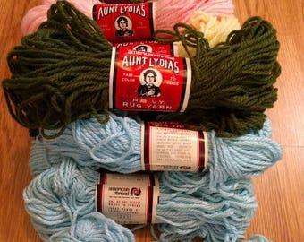 Vintage Aunt Lydia's Rug Yarn