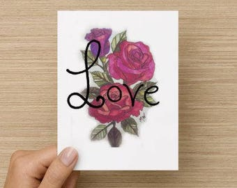 Love Bloom 5.5x4 Vertical Note Cards