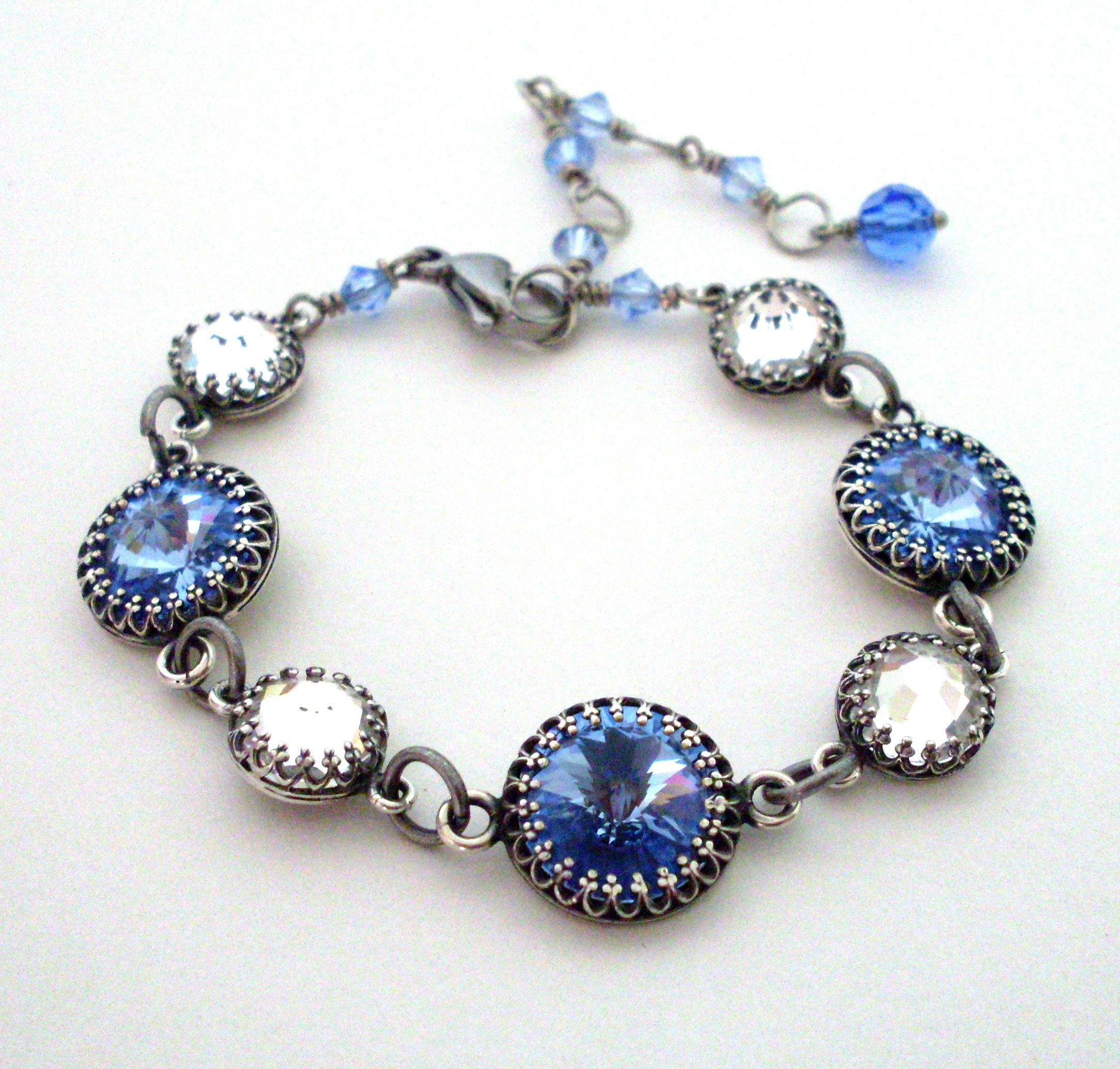 blue light rainbow bracelet