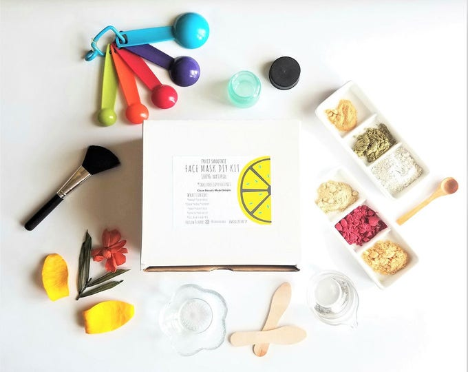 Featured listing image: Clay Face Mask DIY Kit | Fruit Facial Mask Kit | Make Your Own Mask | DIY Kit