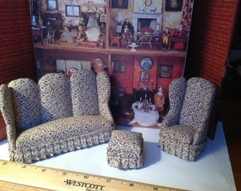 Dollhouse Living room miniature Furniture