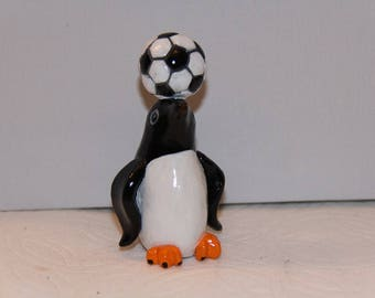 Soccer Penguin Figurine