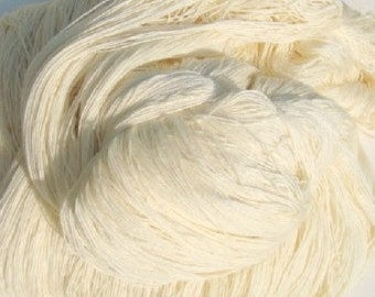 Fingering Superwash Merino Cashmere Nylon wool Yarn Natural Ecru color