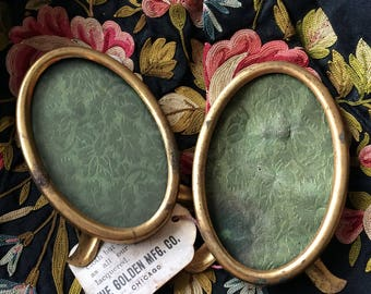 Even 24 Karat Gold Couldn't Fight The Tarnish Of Life Vintage Oval Picture Frames