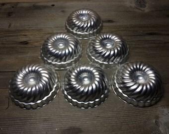 Set of 6 Jello Molds