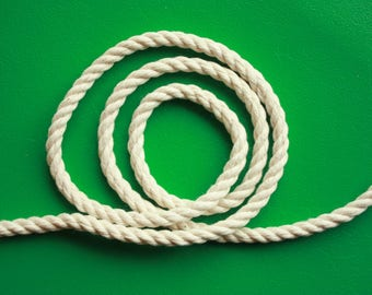 4 mm Cotton Rope = 1 Roll = 200 Meter = 218 Yards of Cotton Yarn Natural and Elegant COTTON TWISTED CORD