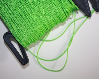1.5 mm BRAIDED GREEN Cord = 1 Spool = 110 Yards = 100 Meters of Elegant Polypropylene Rope for Macrame, Sewing, Crocheting, Knitting