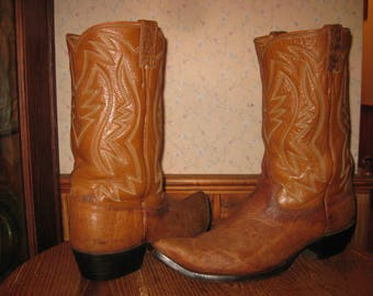 Justin   Vintage     Exotic  Leather    Cowboy Boots     Made In USA     Mens  13  D