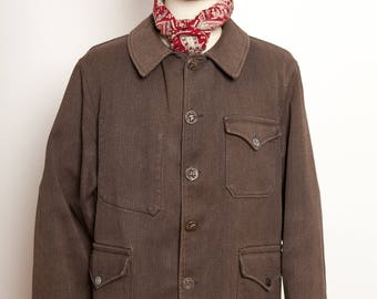 1040'S French Hunting Bedford Cord Jacket