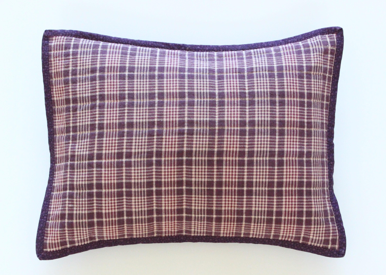 Ultra Violet Purple Plaid Decorative Throw Pillow