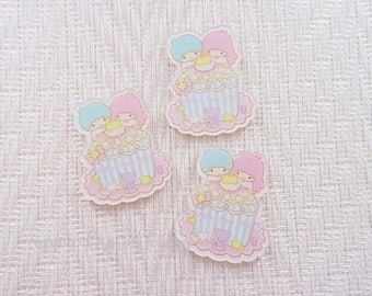 1pc - Kitschy Little Twin Stars Star Cupcake Acrylic Decoden Cabochon (45x38mm) LTS008