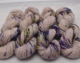 Judith Shimmer Worsted , Hand Dyed Yarn, Mohair, Wool, Polyester, worsted weight, multicolored yarn, Double Trouble