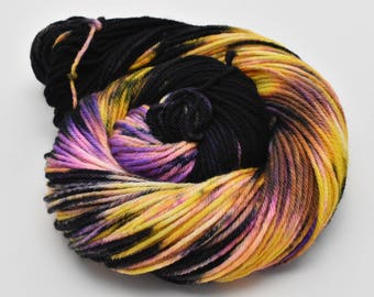 Oscar Worsted, Hand Dyed Yarn, worsted weight, superwash merino, Another Galaxy