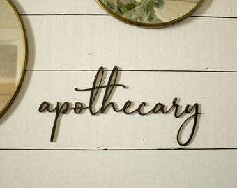 Apothecary Sign Gallery Wall Sign Farmhouse Gallery Wall Farmhouse Bathroom Sign