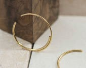 Unique Gold Hoop Earrings – 22K Gold Double Hoop Earrings for a Minimalist Hoops Look