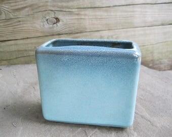 Glidden Pottery Speckled Green Vase Planter Mid Century Modern