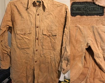 1940s Montgomery Ward Chamios Shirt Distressed