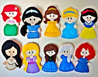 Princess Inspired Finger Puppets