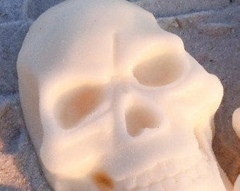 Blue + Green Skull Soap on a Rope - Basil Peppermint Oil - Halloween - Halloween Party Favor -Fall Decor - Gift for Her - Gift for Him