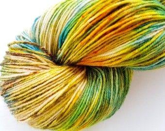 Indie Hand Dyed Hand Painted Merino 'Herb Garden' 4ply Sock yarn