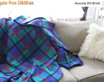 SALE Bold colors Mexican picnic blanket- retro home decor- wall hanging