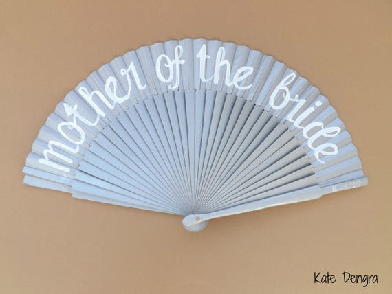 Mother of the Bride Silver Hand Fan