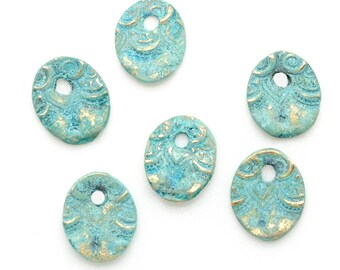 Small Oval Charm Dangles Set of 6