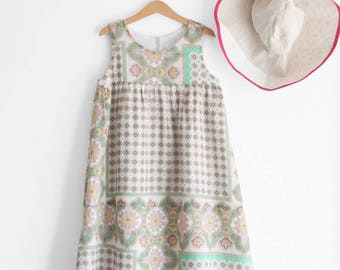 Womens dresses, paisley dress, womens summer dresses, womens clothing, cotton dress, womens sundress. Sustainable clothing, made in Italy