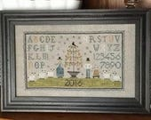 NEW! CHESSIE & ME Pear Tree Sampler counted cross stitch patterns at thecottageneedle.com 2018 Nashville Market