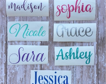 Vinyl Decal - Name Decal  - Vinyl Name Decal - Personalized Vinyl Decal