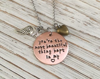 Memorial Necklace, Infant Loss Jewelry, Miscarriage Jewelry, Sympathy gift, Hand Stamped Necklace, Memorial Jewelry, Miscarriage Necklace