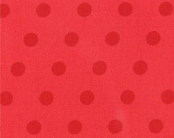 Aneela Hoey Fabric, Dots in Poppy Red, A Walk in the Woods by Aneela Hoey for Moda Fabrics, 18527-14