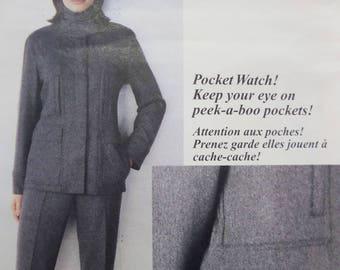 TAPERED PANTS Pattern • Vogue 2190 • Miss 14-18 • DKNY • Velcro Close Jacket • Seamstress Patterns • Designer Patterns • WhiletheCatNaps