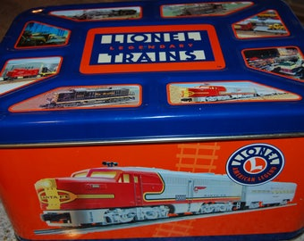 Lionel Trains Legendary  Lionel Toy Trains Lionel Train Tin Toy Box Full Color Lionel Trains Illustrated Metal