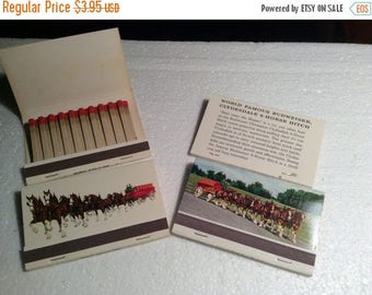 "CLEARANCE Vintage Budweiser Clydesdales 3"" x 2"" Match Books QTY - 4"