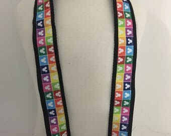 Personalized DSLR Camera Strap - colourful Mickey Mouse