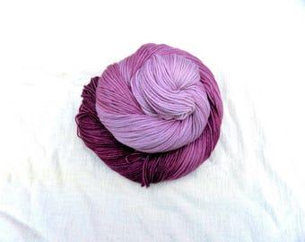 Hand dyed SW Merino, Cashmere, Nylon fingering wt, 460 yds