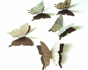 Butterfly Confetti, Fall Wedding Accent, Woodland Theme Event, Bridal Shower Decor, Anniversary Party, 3D Paper Butterflies