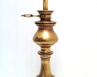 Vintage Stiffel brass candlestick table lamp