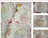 Cupcake Coasters Hand Embroidery PDF Pattern