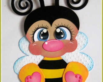 Bumblebee  critter  for premade scrapbook pages album or cards by Rhonda