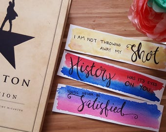 Founding Fathers Watercolor Quote Bookmark