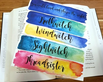 Truthwitch Watercolor Bookmark, Gift For Booklover, Young Adult Bookmark
