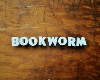 BOOKWORM - Vintage Ceramic Push Pins