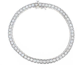 "Diamond Tennis Bracelet 7"" - 14k White Gold Round Cut 2.50ctw U1239"