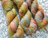 Sock yarn hand dyed merino silk fingering yarn 4 ply variegated flecked speckled yarn superwash