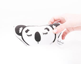 Koala Baby Rattle - Koala Softie Rattle - Bespoke handmade - Sleepy eyes - Australiana - Australian - Australia - Koala bear - Koala toy